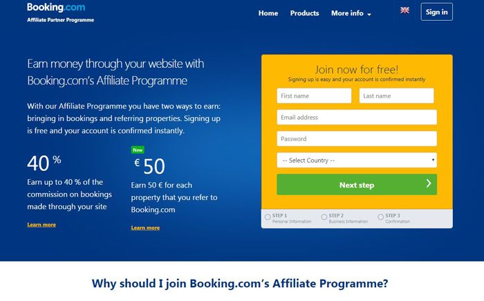 Booking.com Affiliate Program-Travel-Hotel