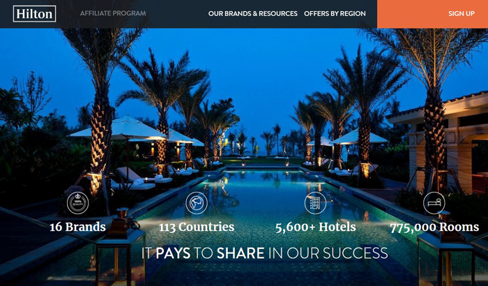 Hilton Affiliate Program-Booking-Travel-Hotel