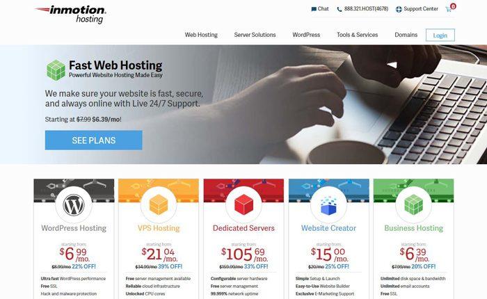 InMotion Hosting Web Hosting Services Reviews
