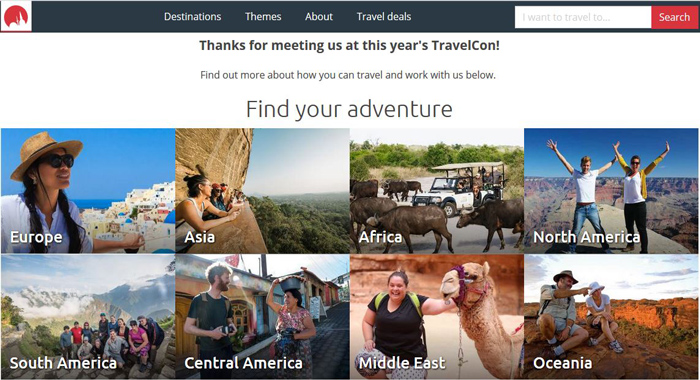 Intrepid Travel Affiliate Program-Booking