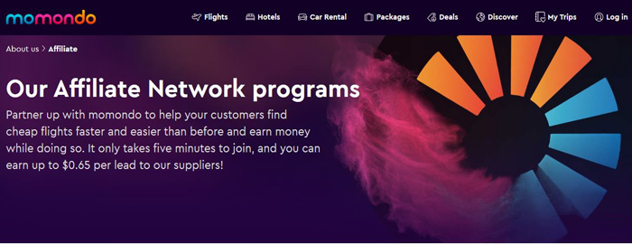 Momondo Affiliate Program-Booking-Travel