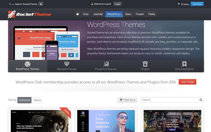 RocketTheme WordPress Themes Premium Reviews