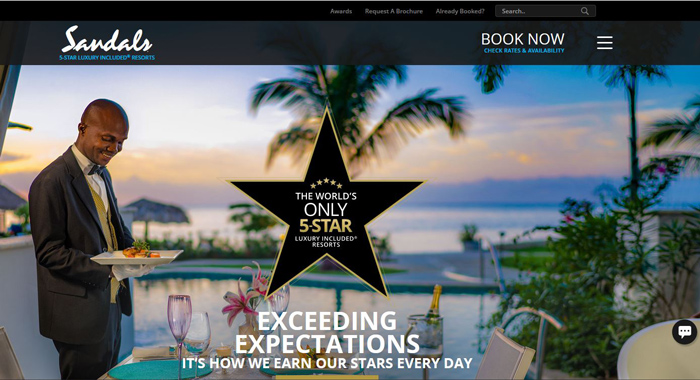 Sandals Affiliate Program-Booking-Resort