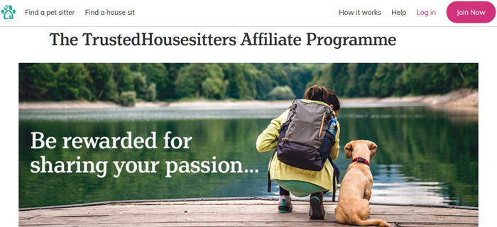 TrustedHousesitters Affiliate Program-Pet Sitting-Travel